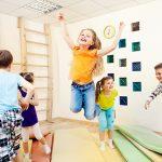 Group of children enjoying gym class